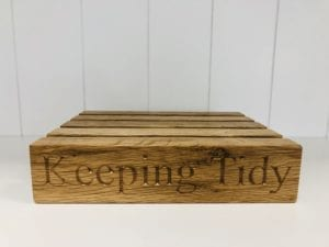 Keeping tidy oak letter rack
