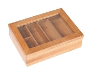 LER003 oak Cutlery box