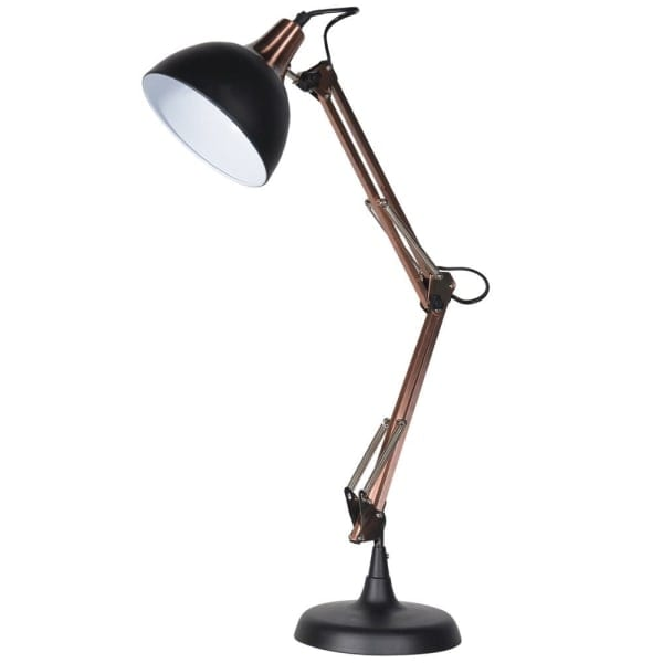 LHS063 Black angled table lamp