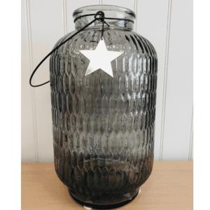 Large star vase grey