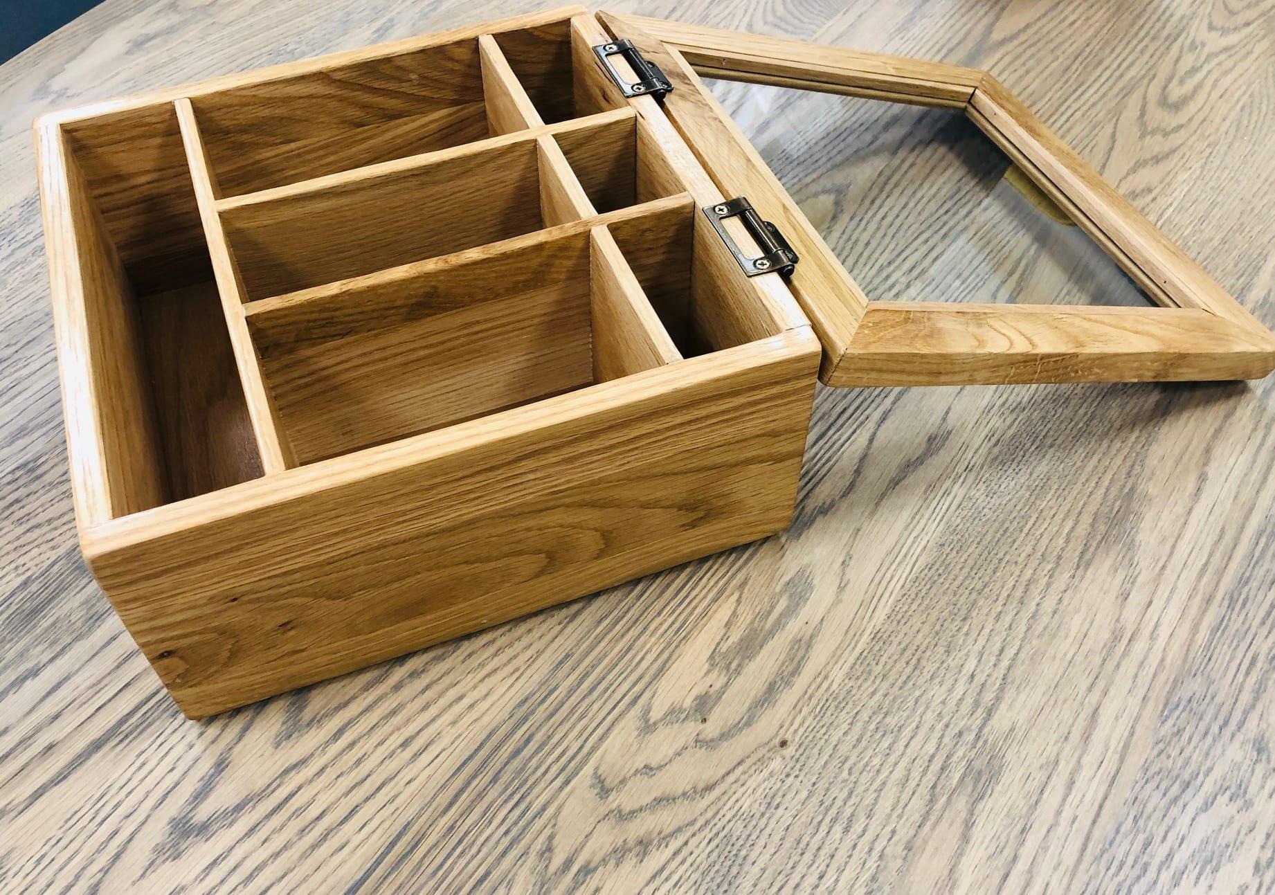 Storage Box with Glass Lid