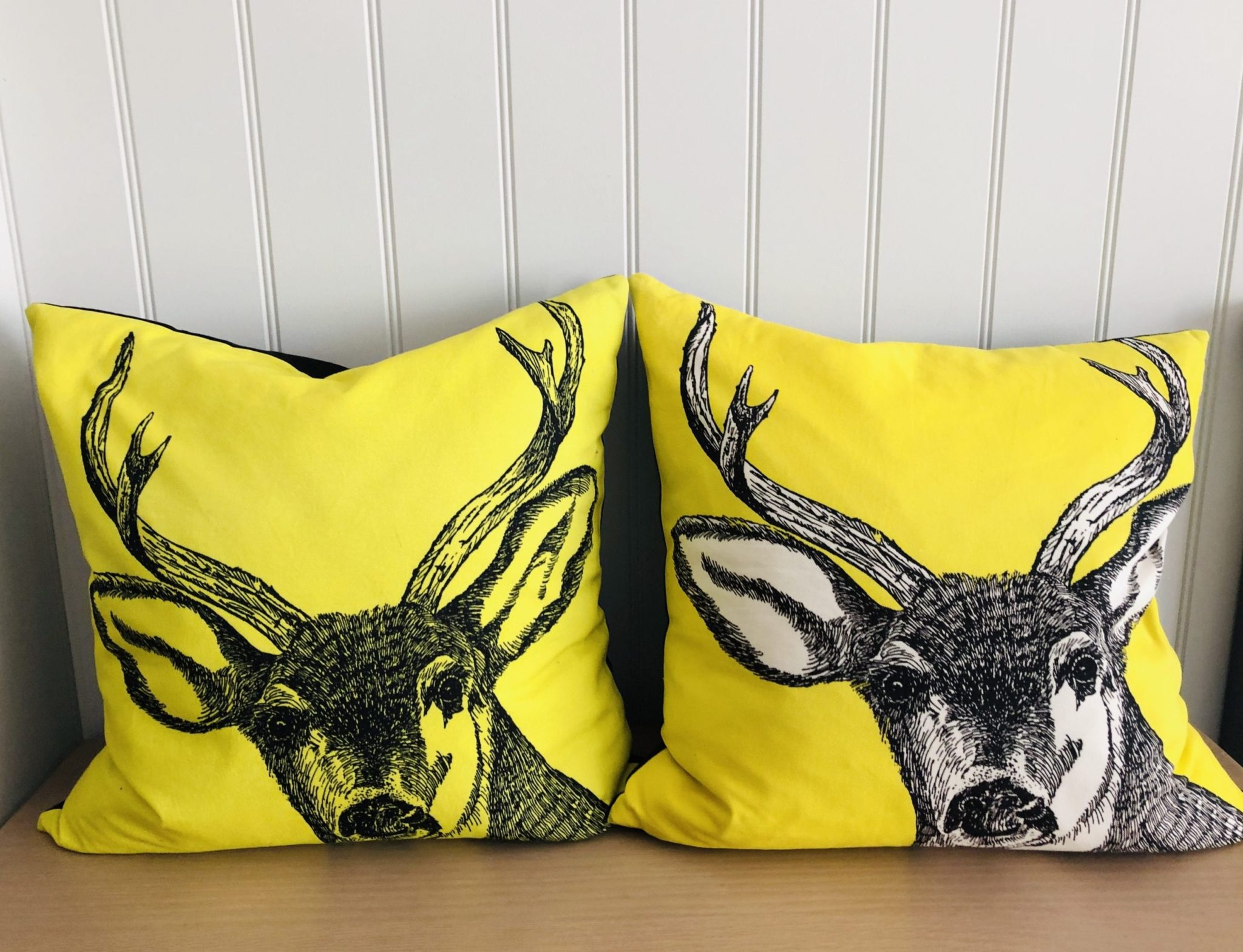 Yellow Stag Cushions