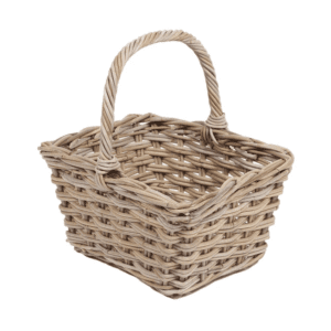 ww-020 Square flower basket with high handle