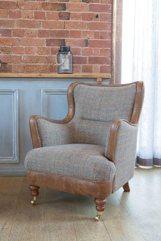 Ellis arm chair hunting lodge fabric
