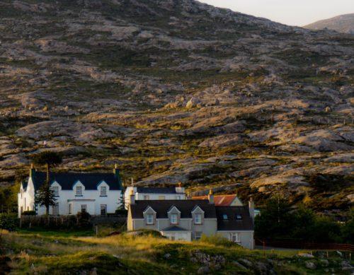 Outer hebrides in scotland HARRIS TWEED weavers
