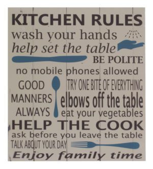 Archipelago Kitchen rules wall plaque sign