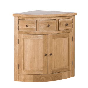 Oak Corner Hutch side board