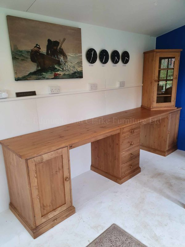 Bespoke pine wide workstation desk