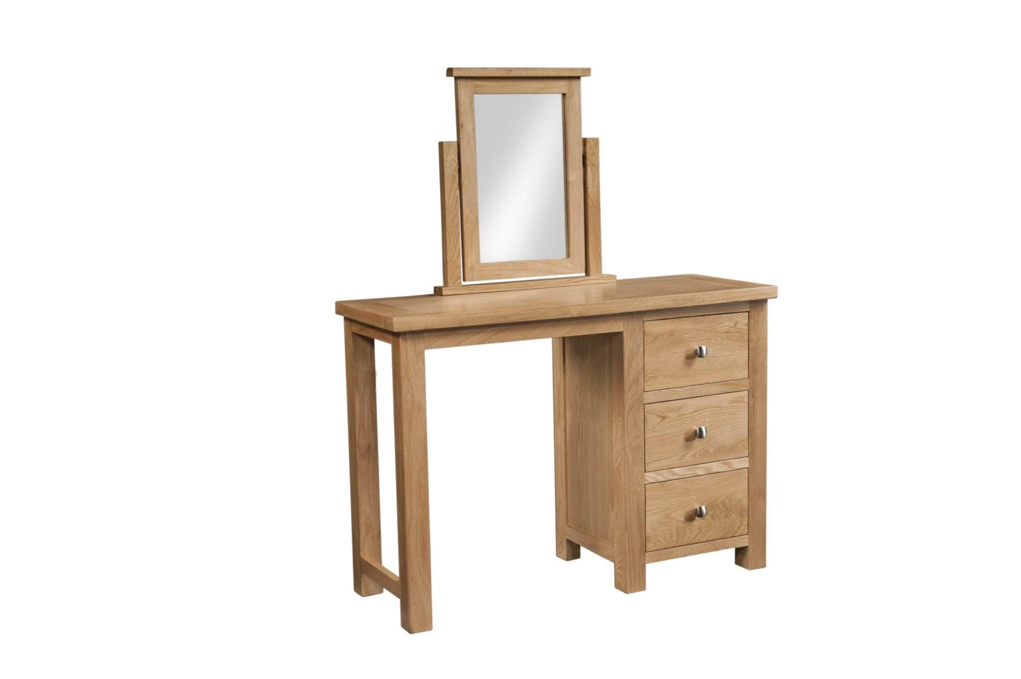 Dorset Oak double pedestal dressing table