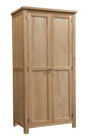 Dorset oak double wardrobe full hanging door wardrobe
