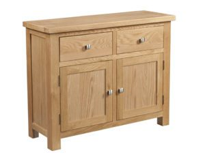 Dorset oak 2 door sideboard with 2 drawers and adjustable shelves