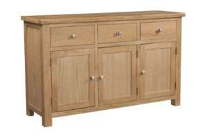 DOR052 Dorset oak 3 door sideboard