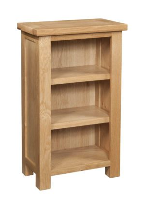 Dorset Oak small bookcase with 2 adjustable shelves