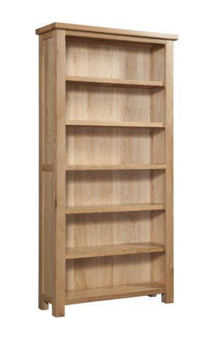Dorset Oak 6ft bookcase with 4 adjustable shelves and 1 fixed shelf