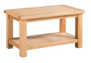 Dorset Oak DOR069 Small coffee table with shelf