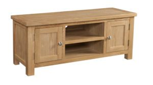 Dorset large DOR072 TV Unit with 2 doors and centre shelf