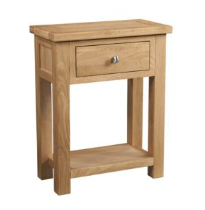 Dorset oak 1 drawer console table