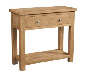 Dorset oak 2 drawer console hall table