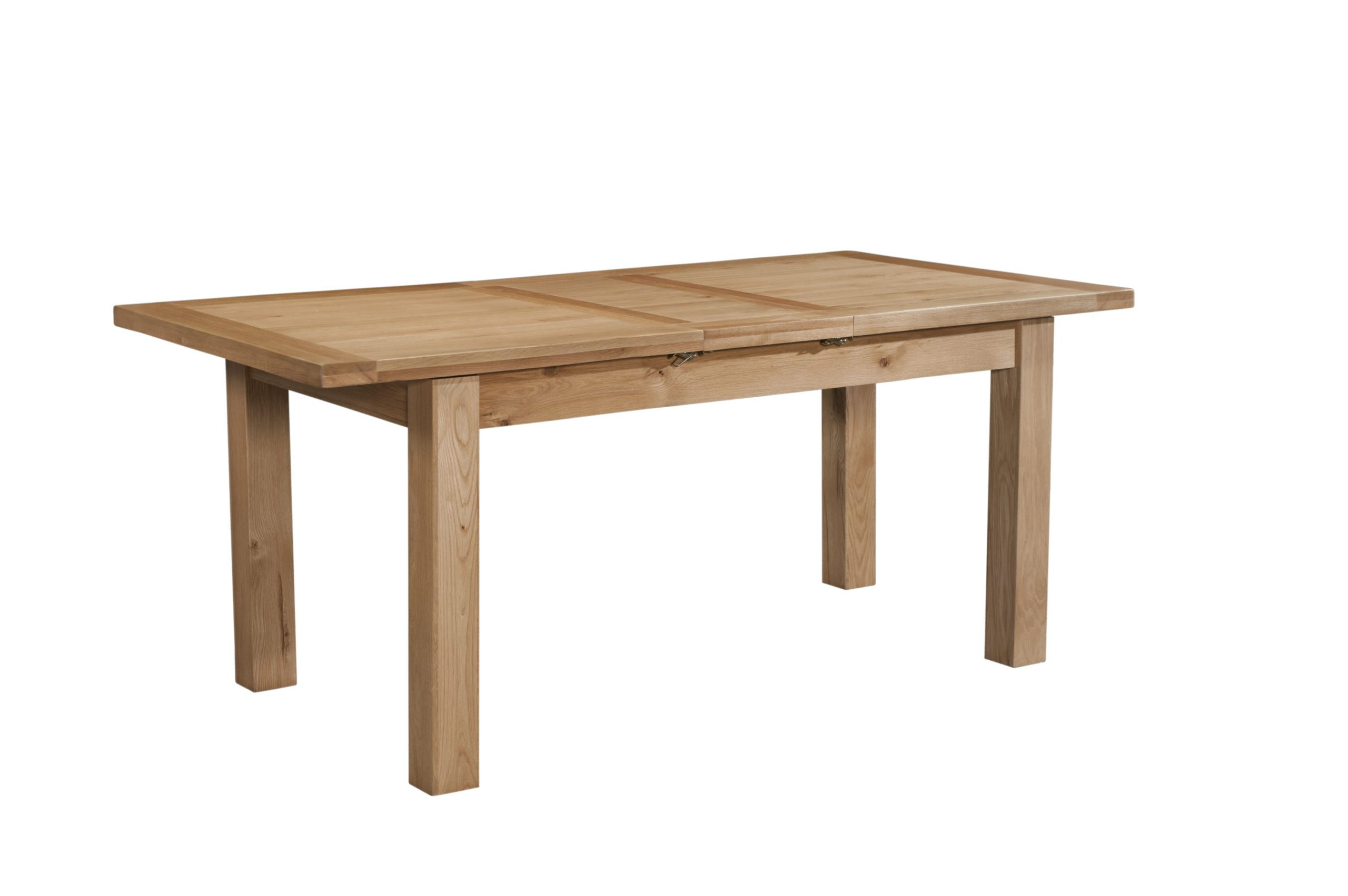 Dorset oak dining table 120cm light oak with 1 extension