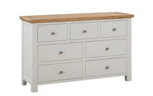 Dorset painted 3 over 4 chest of drawers with oak top