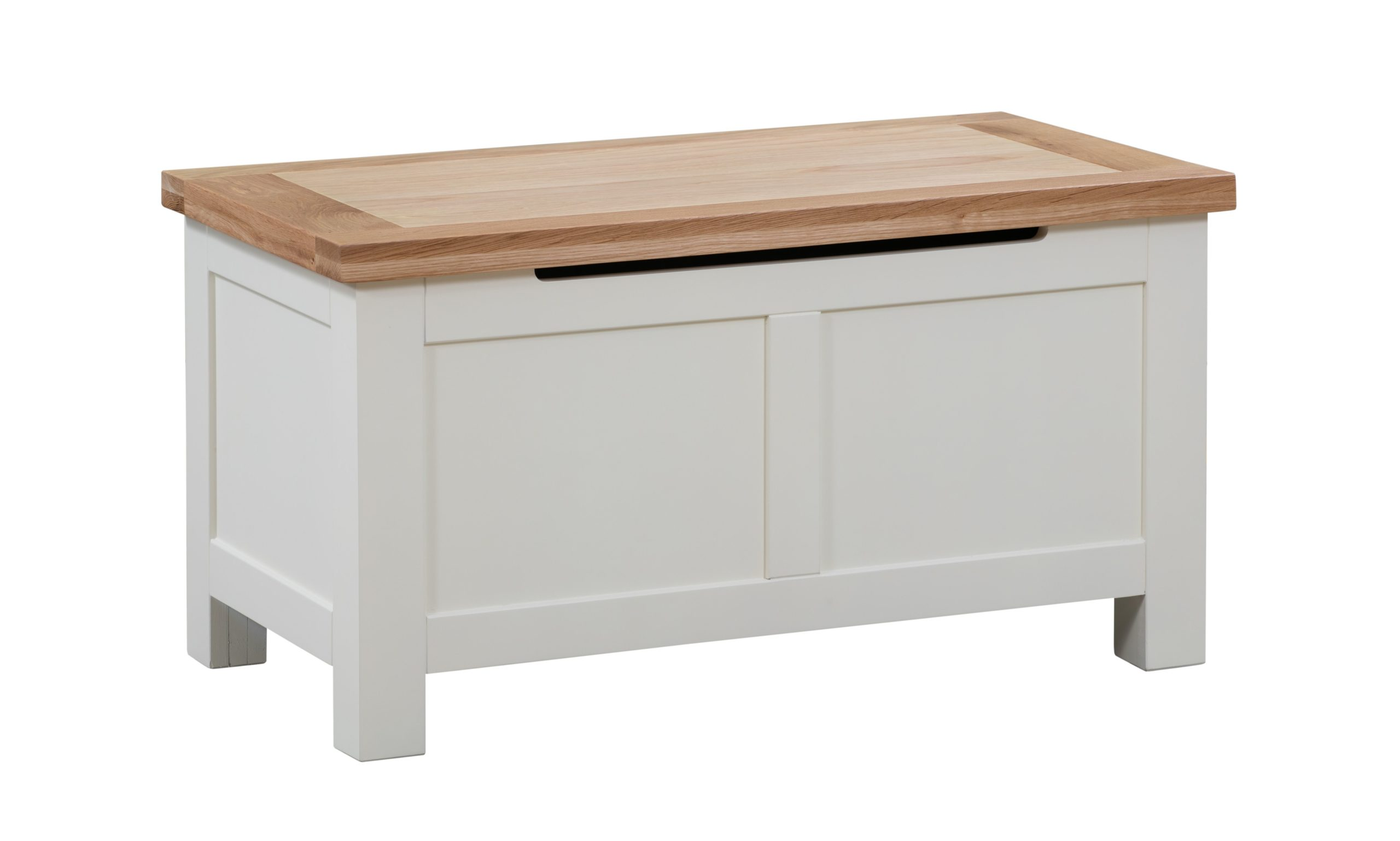 Dorset painted blanket box with stay up lid