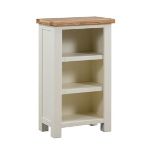 Dorset Painted small bookcase painted with oak top adjustable shelves