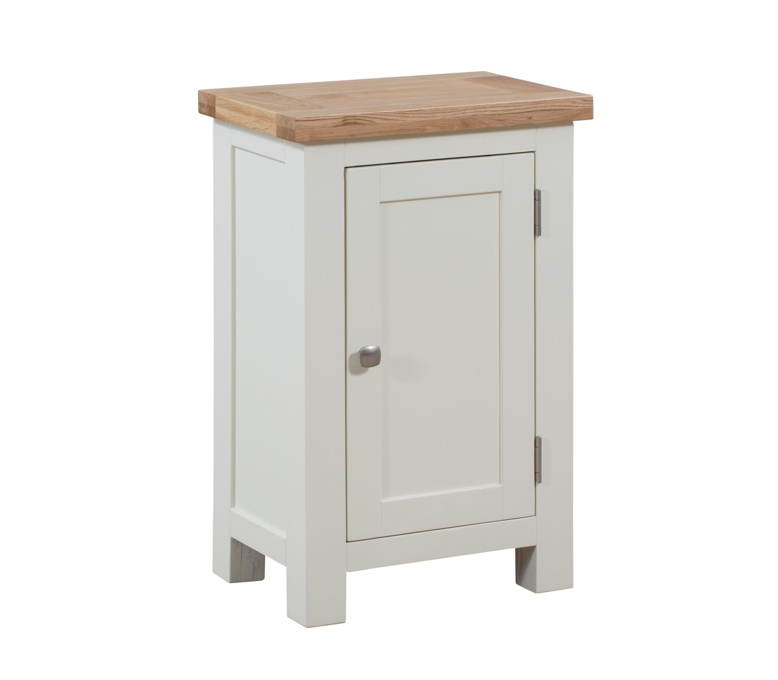 Dorset painted 1 door cupboard with oak top
