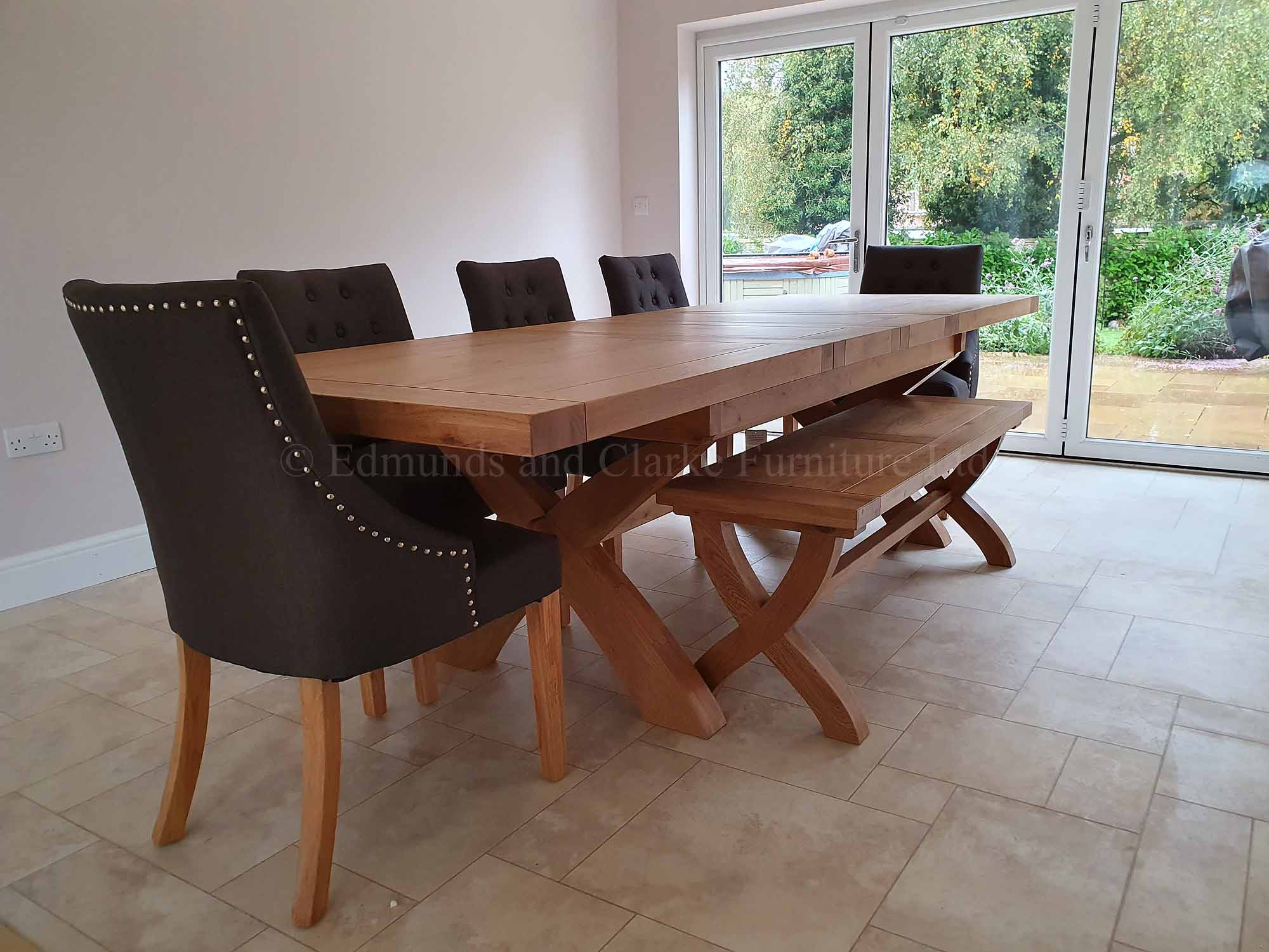 Melford x leg extending table and windsor chair