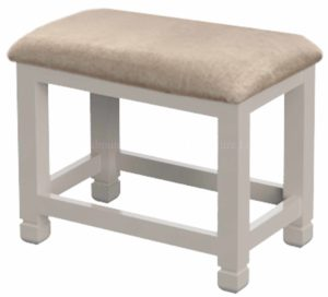 Aldeburgh stool with upholstered seat pad