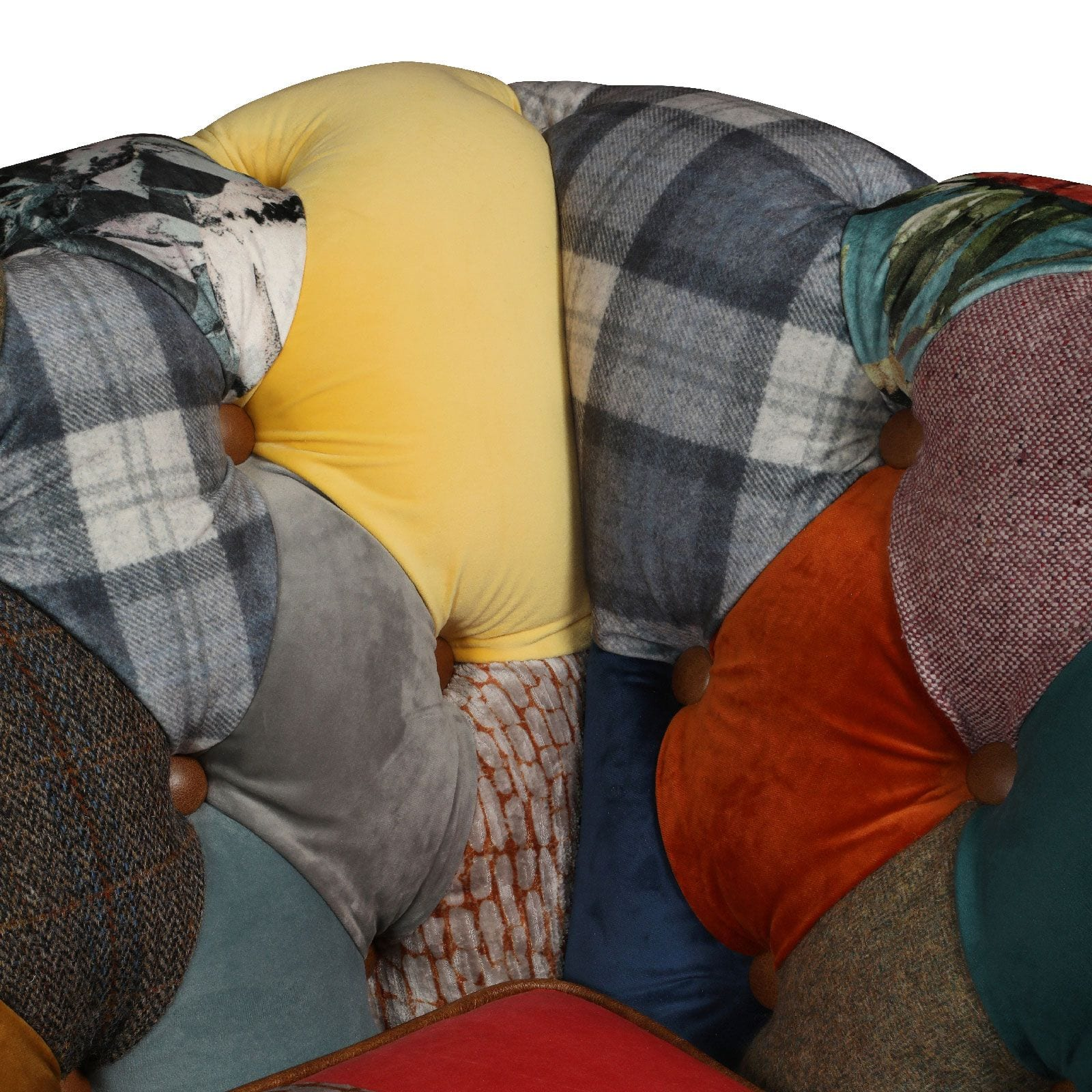 Rutland patchwork sofa close up shot