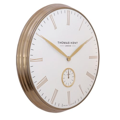 "Thomas kent 28"" greenwich timekeeper brass ivory"