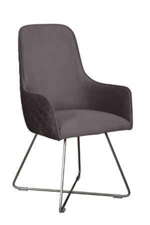 Utah dining chair plush steel