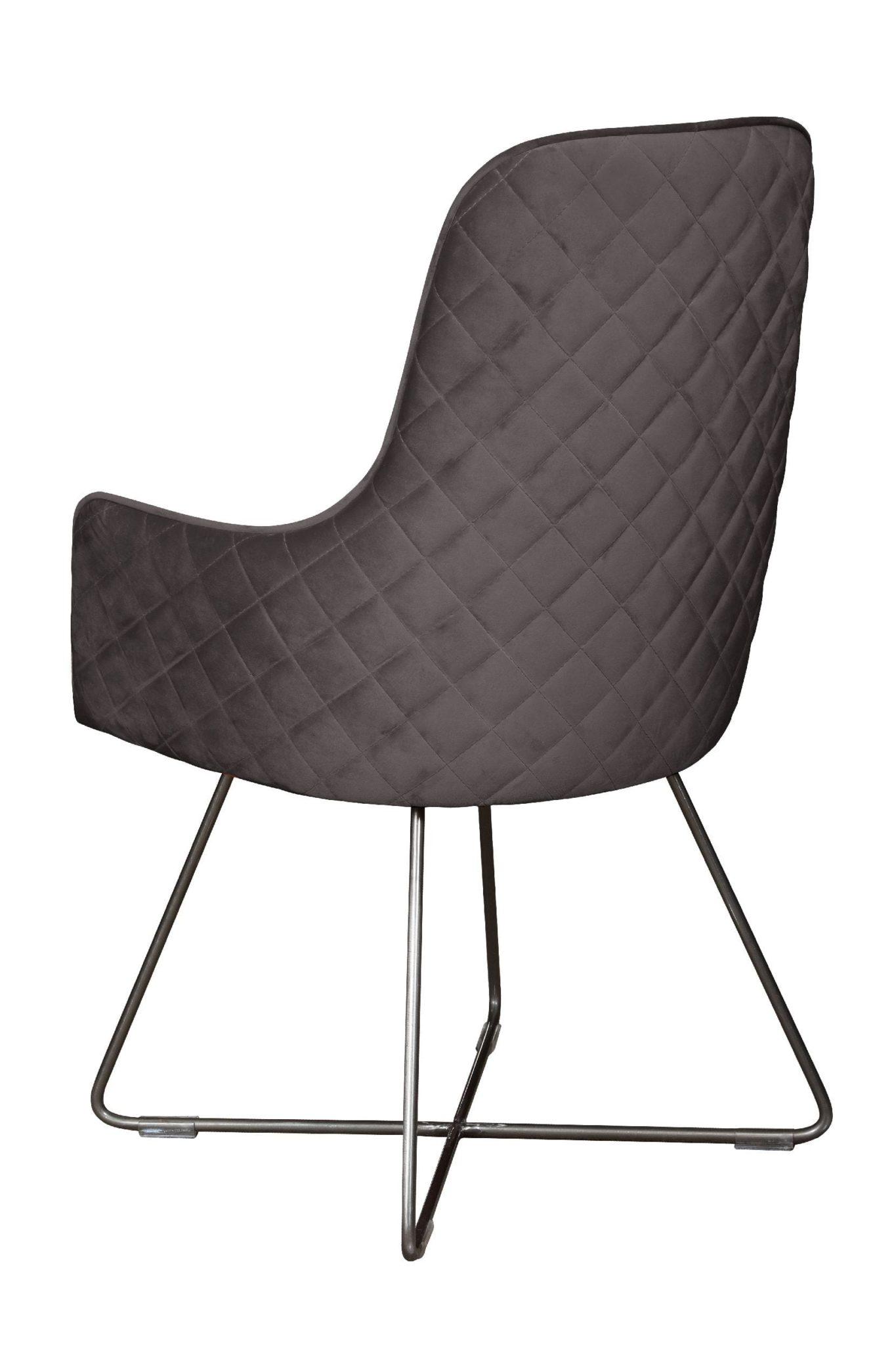Utah dining chair plush steel