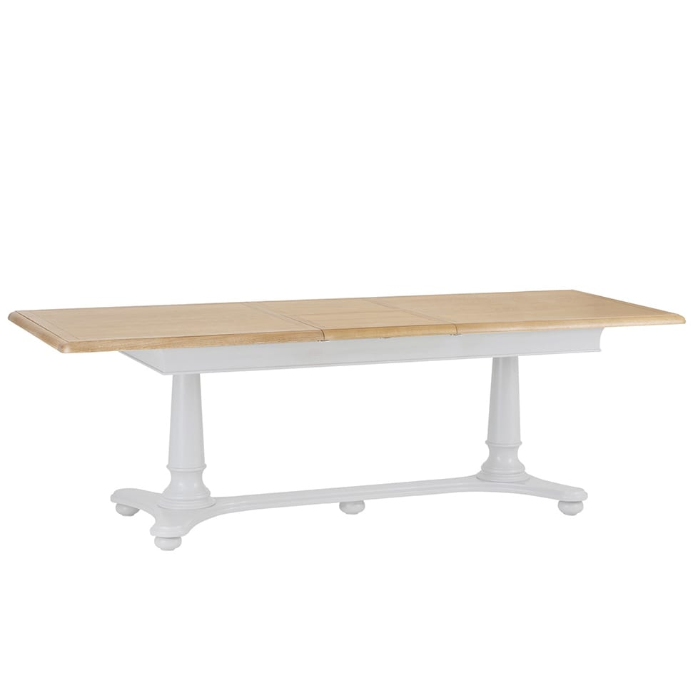 Cavendish extending dining table 2.1m image showing extended side view