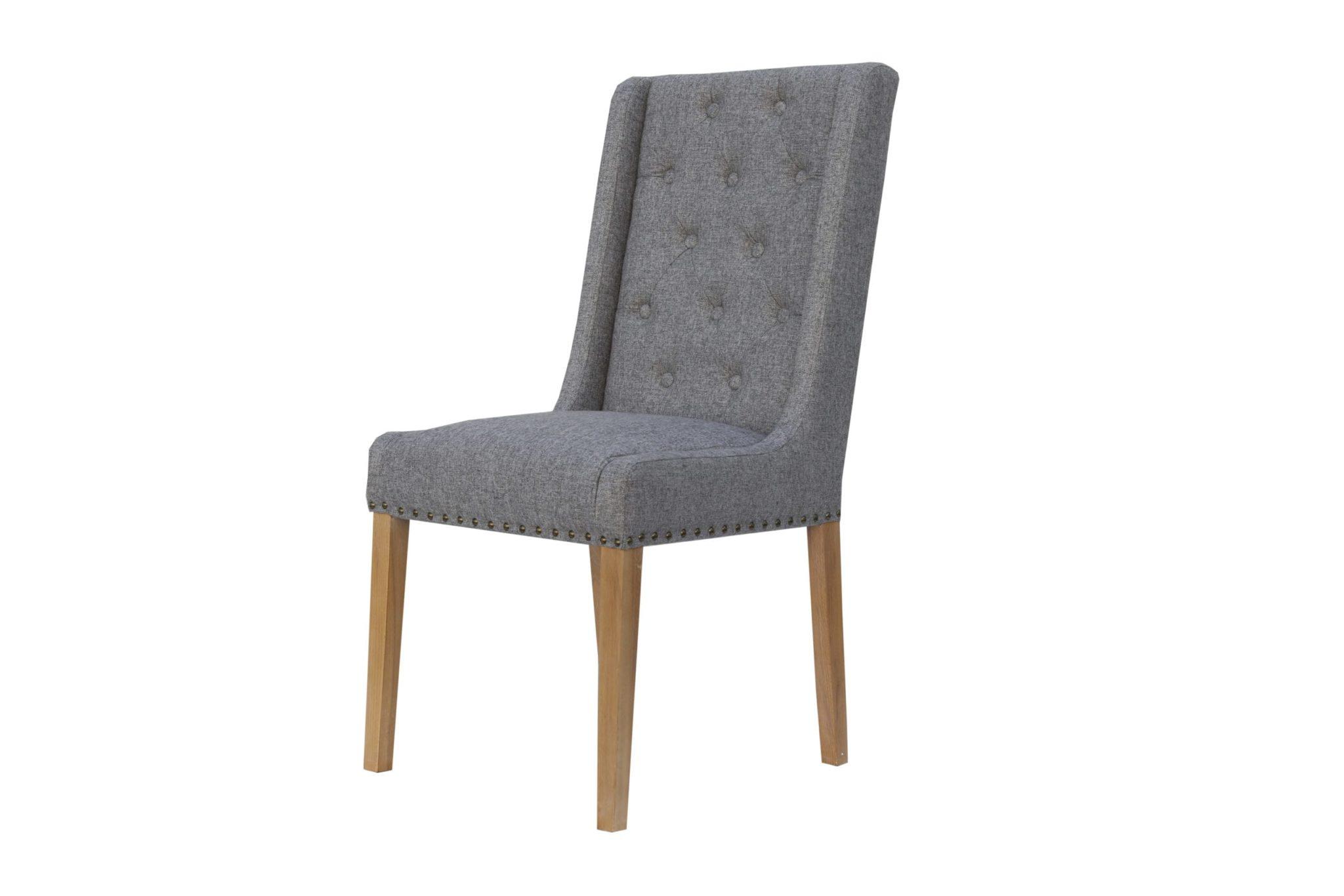 Button Studded chair light grey