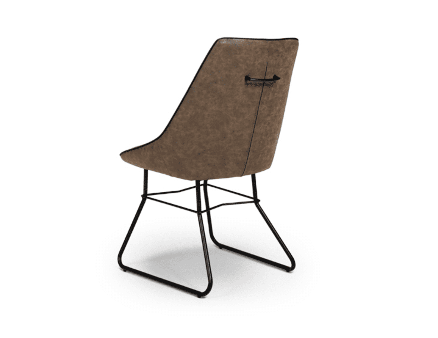 cooper chair wax tan back view