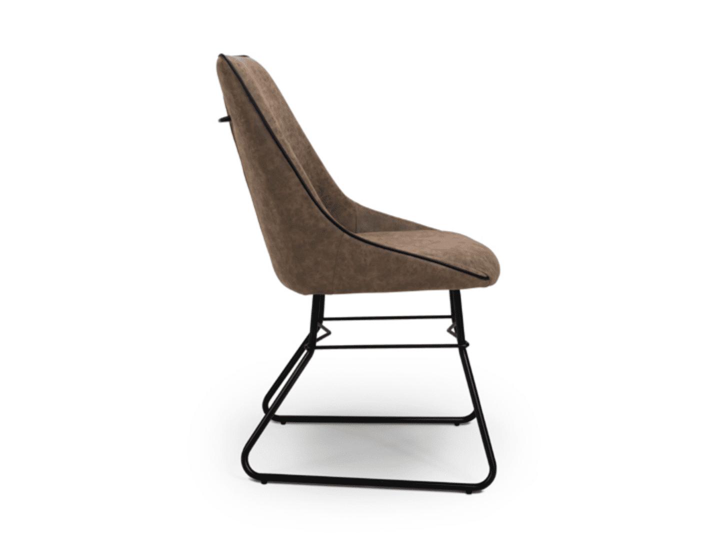 Cooper chair wax tan side