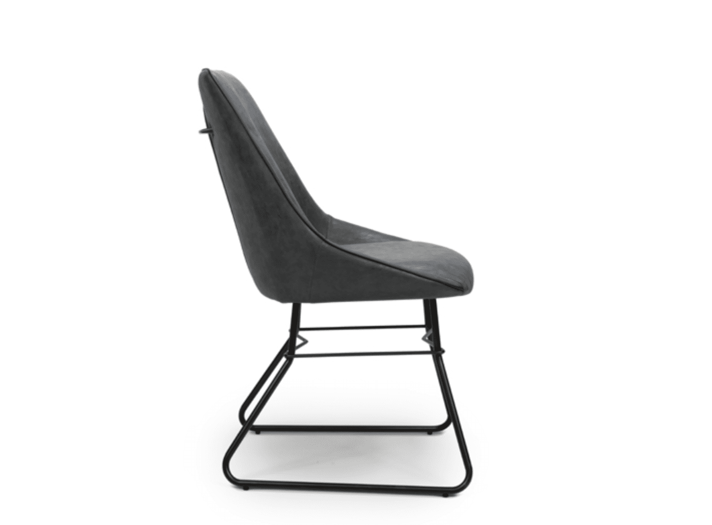 Cooper chair wax grey side