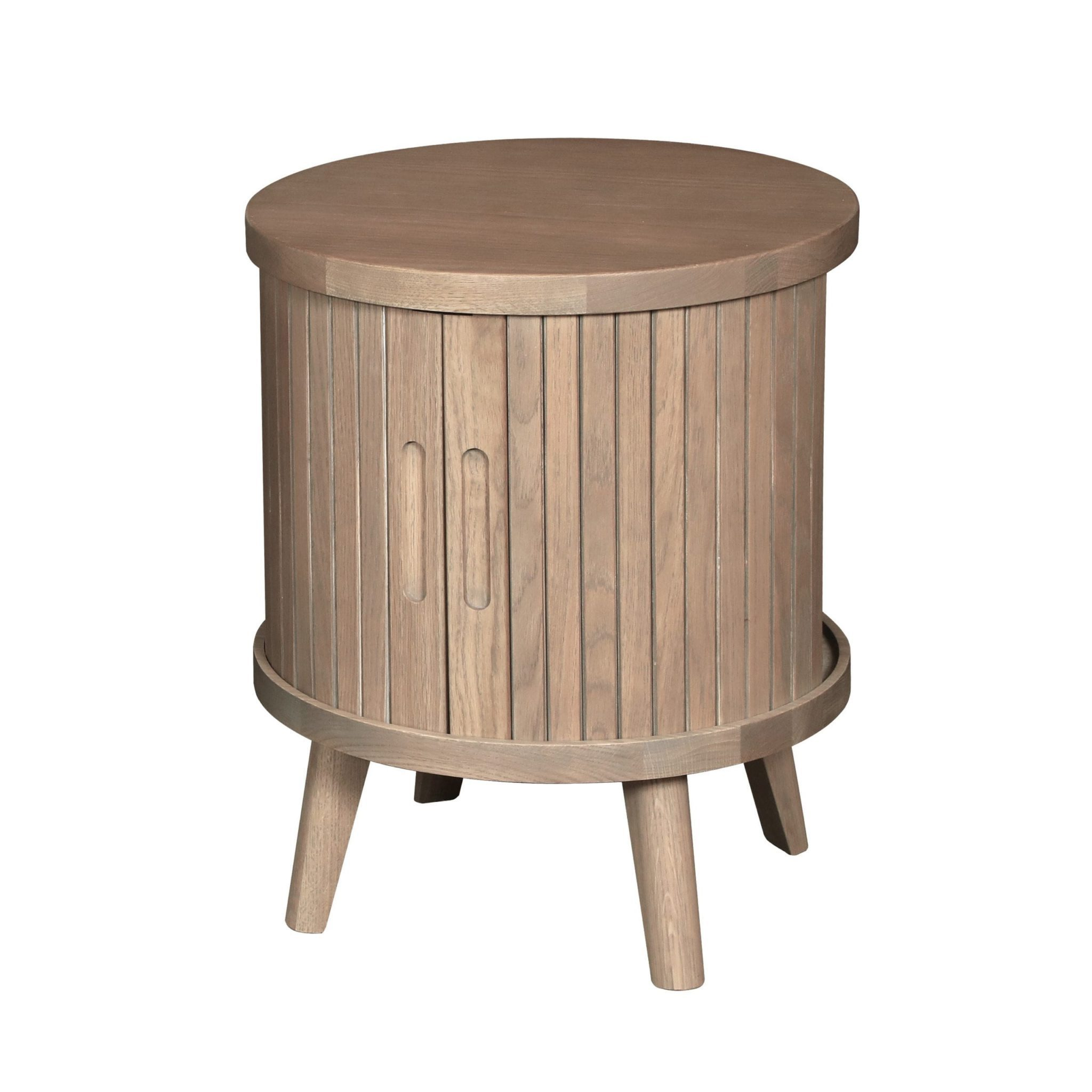 Tambour Grey lamp table 1