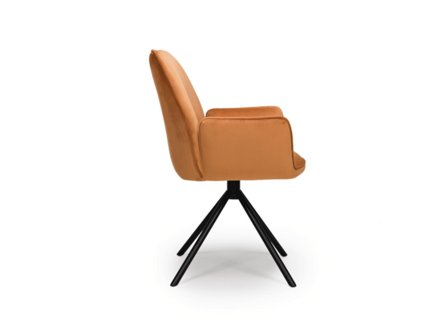 UNO chair burnt orange side