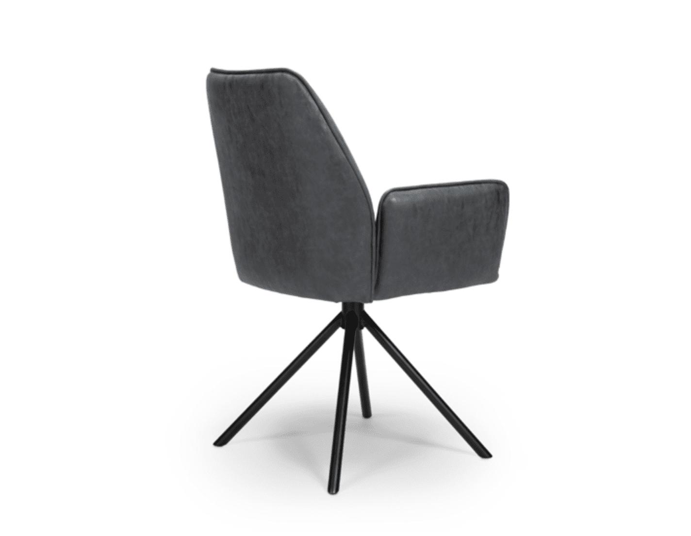 UNO chair wax grey back