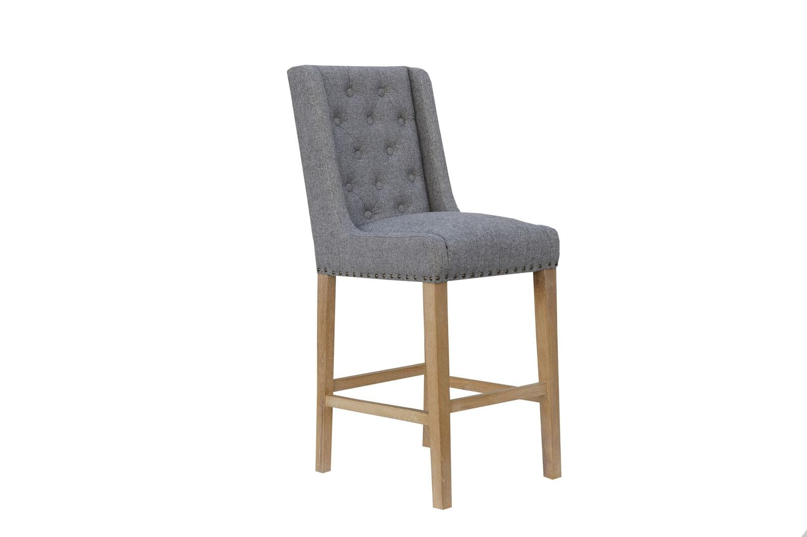 Cavendish button back stool light grey