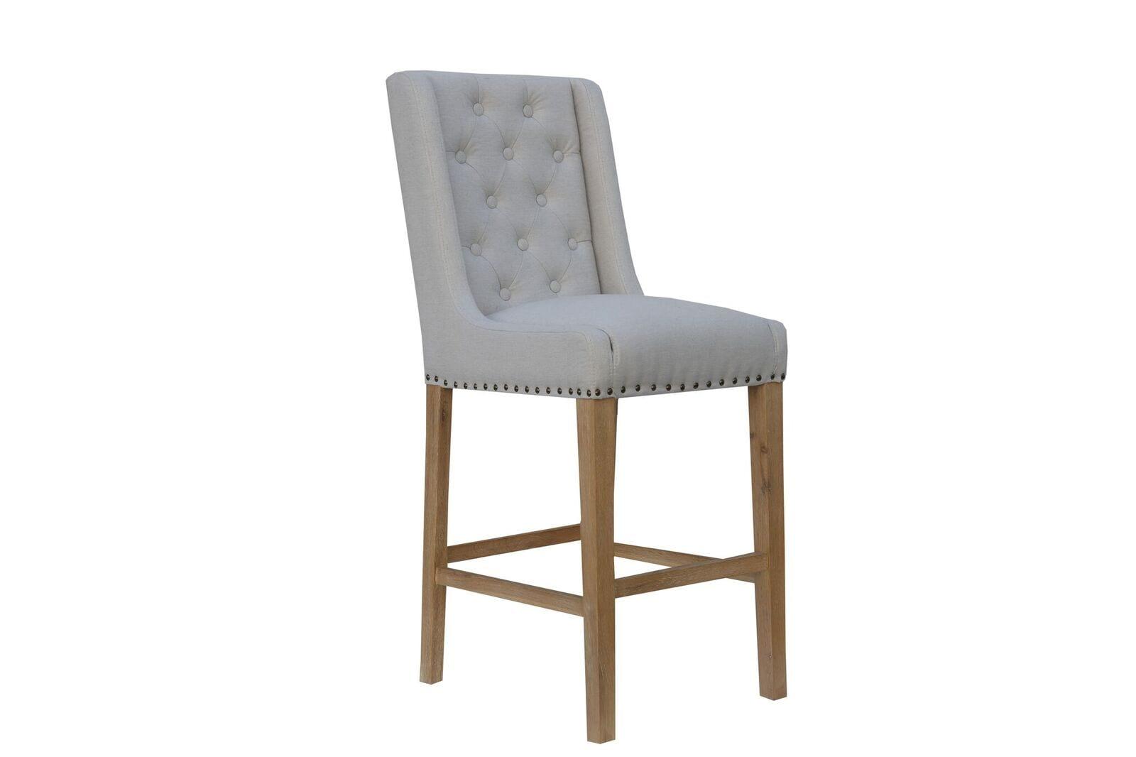 Cavendish button back stool natural