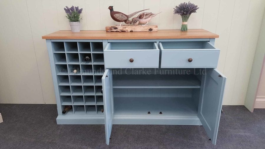 Kitchen Furniture - Sideboard with Wine Rack