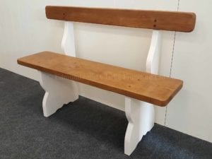 provence bench seat with back rest