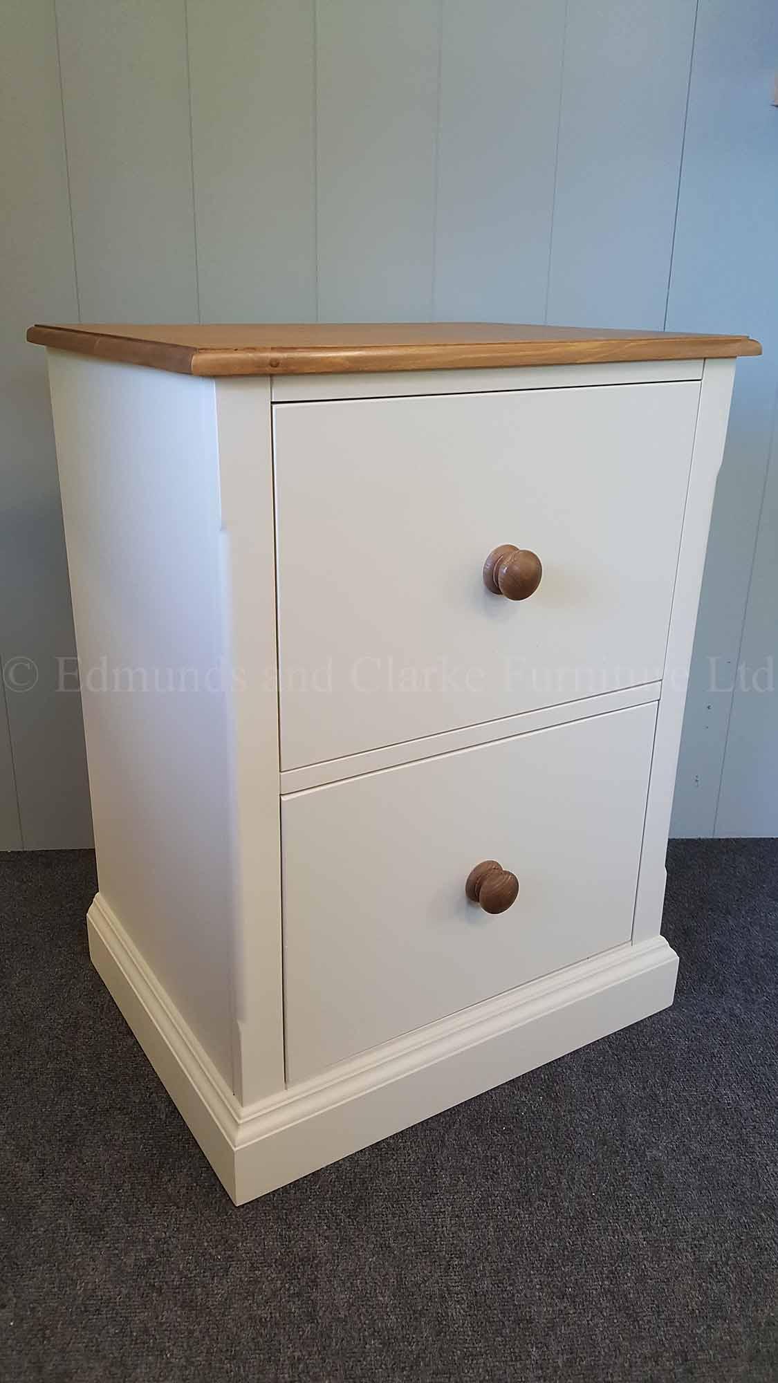 Edmunds Painted 2 Drawer Filing Cabinet Oak Top Edmunds Clarke