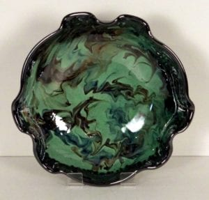Green splashy bowl