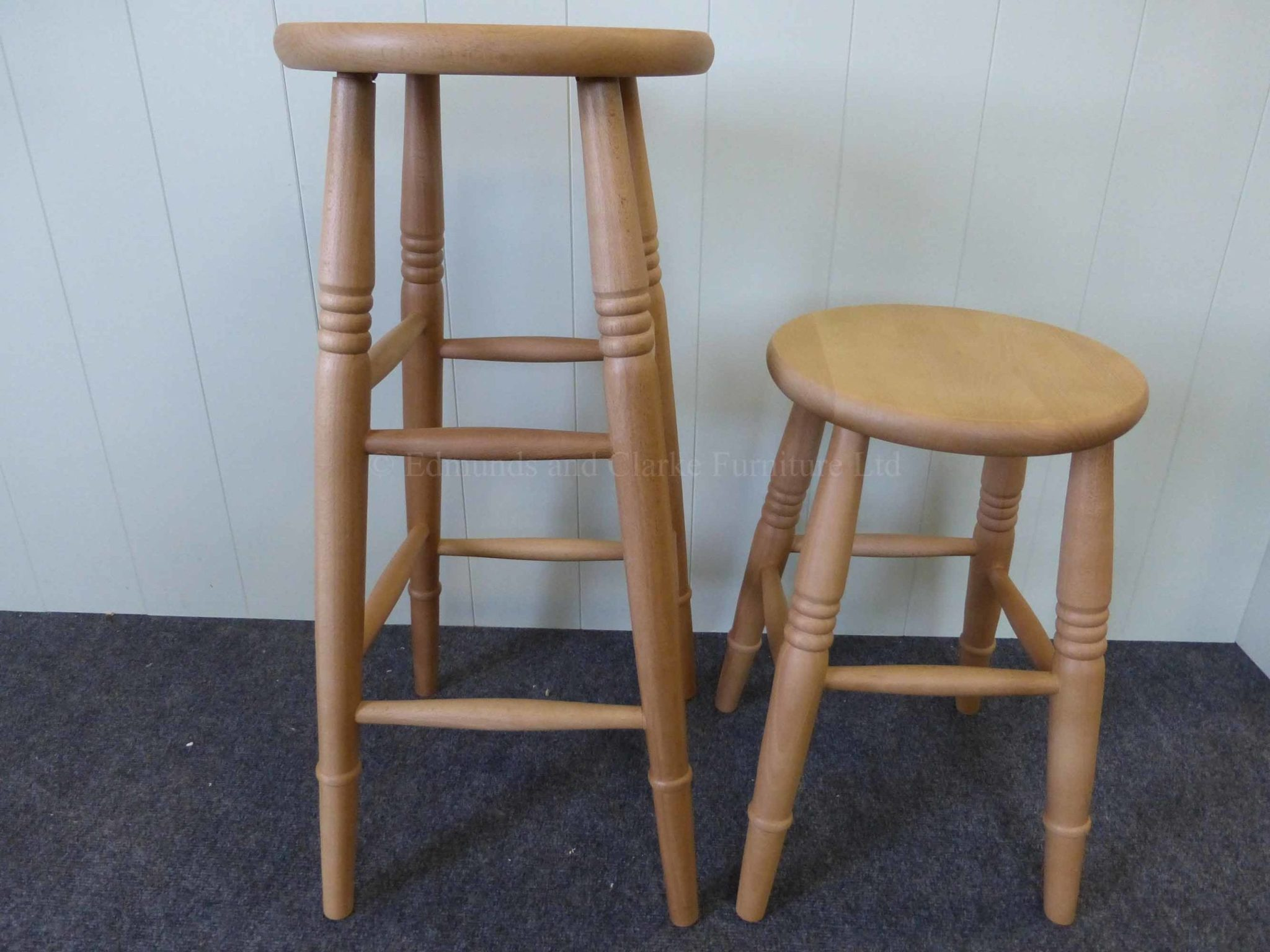 High and low farmhouse stool waxy lacquer