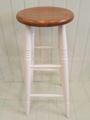 High farmhouse painted stool