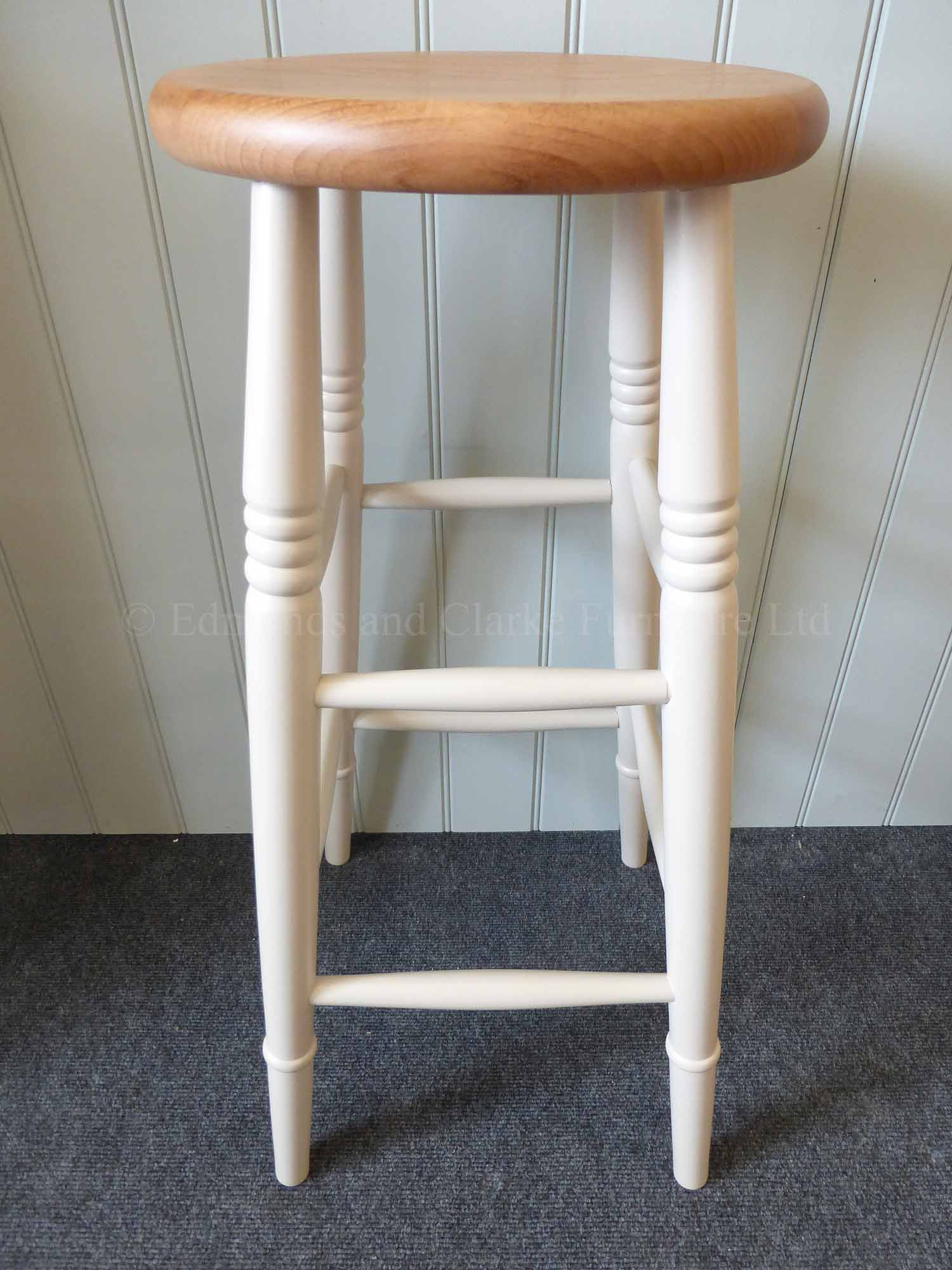High farmhouse style stools painted